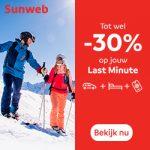 Last Minutes tot -30% bij Sunweb
